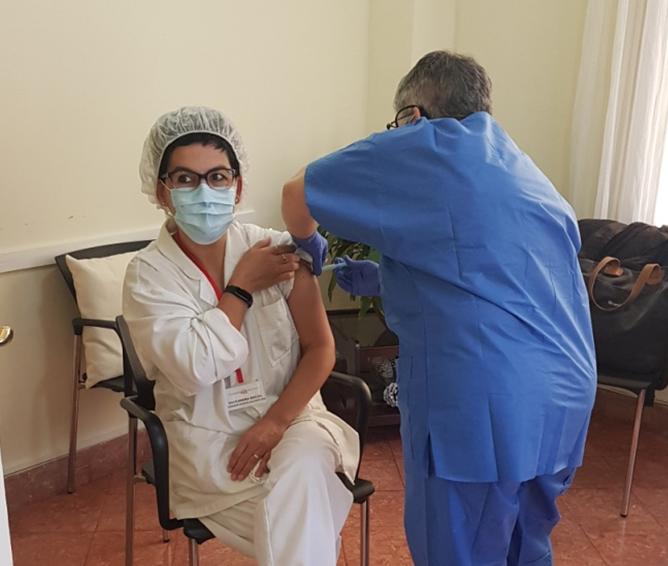 Campanya de vacunació a la Residència i centre de dia Mare Nostrum, el Masnou (Barcelona)